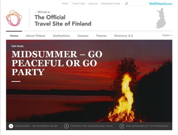 Le nouveau site Internet de VisitFinland fait la part belle aux visuels pour attirer les voyageurs - Capture d'écran