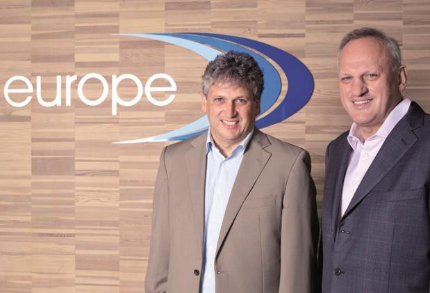 Helmut et Tony Gschwentner au siège de Travel Europe - DR