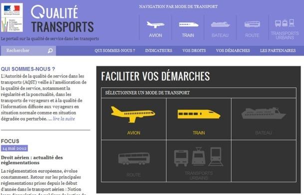 Le ministère des Transports ouvre ses données - Capture d'écran
