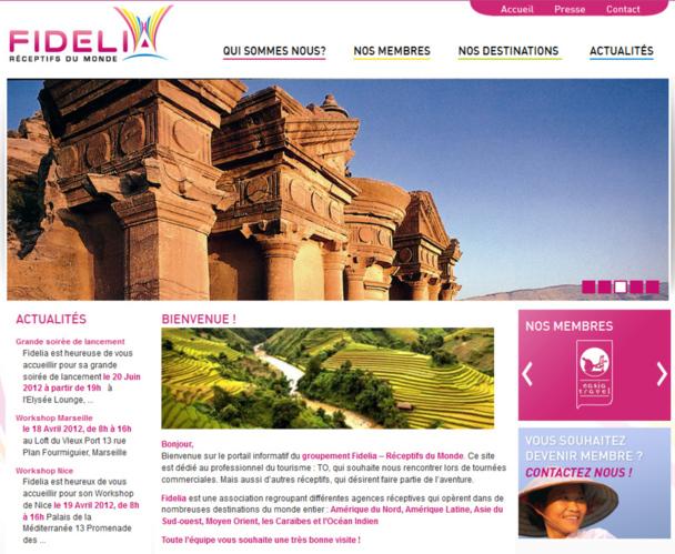 Le site web de Fidelia en ligne depuis le 20 juin 2012 - Photo DR