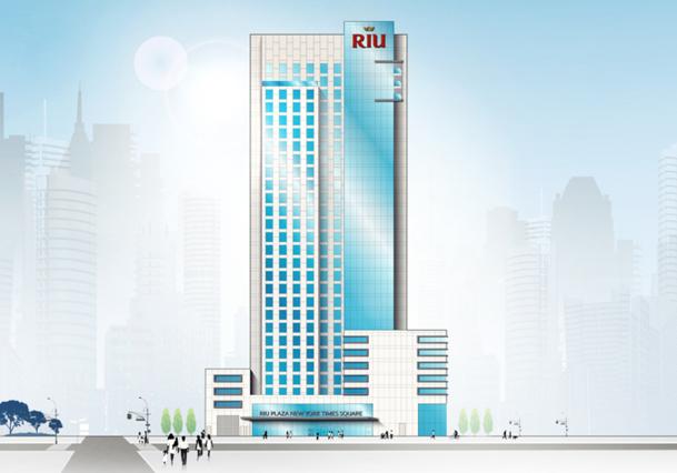 Le futur Riu Plaza New York Times Square 5* sera situé à l'angle de la 8e Avenue et de la 46e rue, et l'ouverture est prévue pour la mi-2015. - DR : RIU Hotels