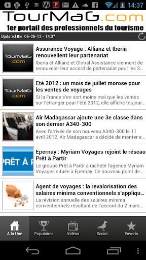 TourMaG.com lance son Appli Androïd
