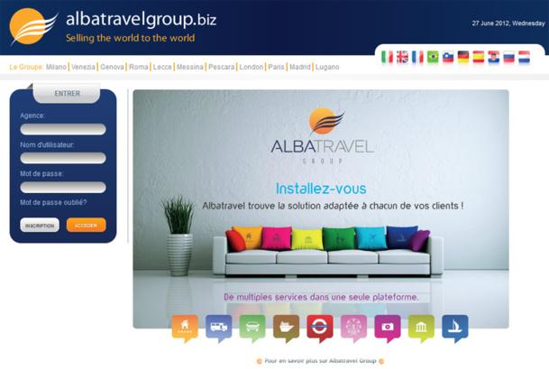 La nouvelle page d'accueil du site Albatravel - Photo DR