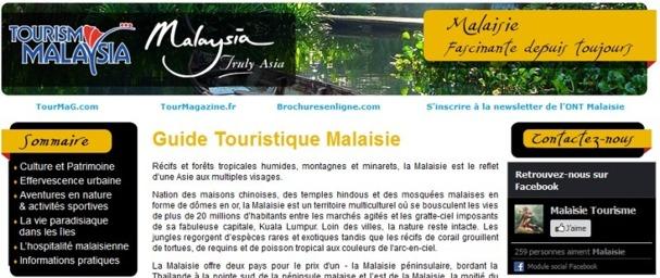 Le manuel de vente en ligne consacré à la Malaisie est publié sur TourMaG.com - Capture d'écran