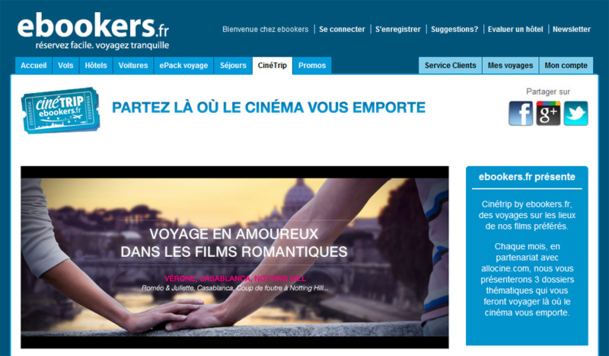 Hôtellerie : Ebookers thématise son offre autour du cinéma