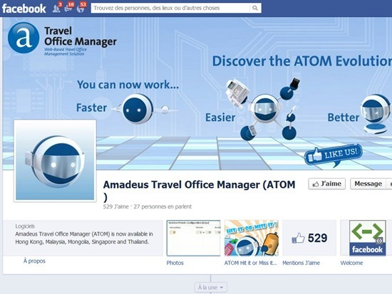 La présence sur Facebook avec possibilité d'animer le contenu et surtout, pour les clients, la possibilité de réserver immédiatement à partir de Facebook.