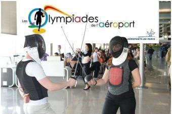 Du 5 juillet au 5 août, les passagers pourront s'initier à différentes disciplines olympiques dans les Aéroports de Paris - Photo DR