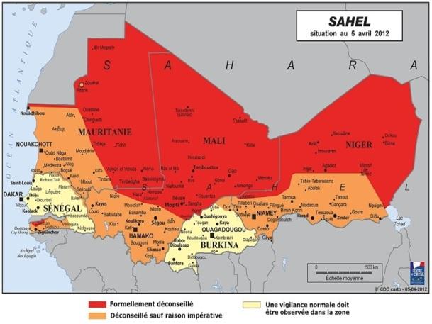"""Tout le Nord du Mali est """"formellement déconseillé"""" par le Quai d'Orsay - DR www.diplomatie.gouv.fr"""