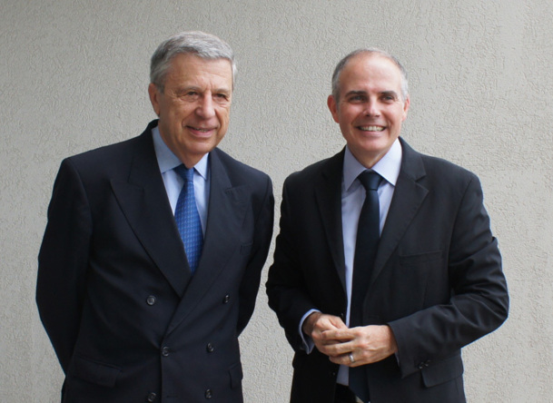 Jean-François Brando, Président de l'aéroport Marseille-Provence, et Patrick Malval, DG Commercial Europe de l'Ouest - Photo DR