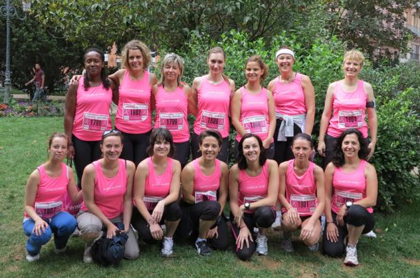 Les filles d'AS Voyages ont participé à la course à Pied la Toulousaine, organisée dimanche 8 juillet. - Photo DR