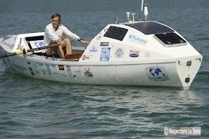 L'expédition RAME 2012 de Charles Hedrich consiste en un aller-retour sur l'Atlantique, sans escale ni ravitaillement sur un distance de 11 000 km - Photo DR