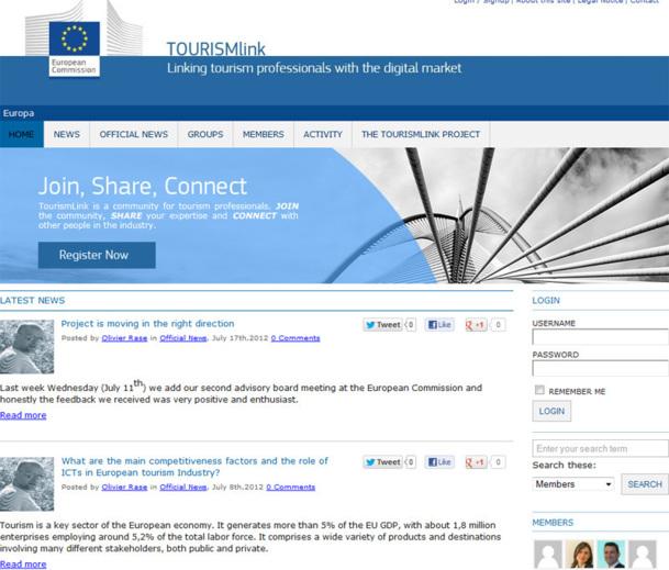 Le site tourismlink.eu lancé par l'Union Européenne - Photo DR