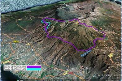 Un incendie s'est déclaré dimanche à Tenerife
