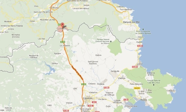 Carte de la région touchée par les incendies.