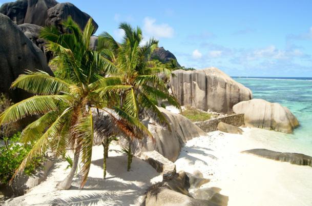 """""""Sur l'île de Mahé, il y a 60 plages. On ne choisit pas son carré de plage délimité mais réellement sa plage, son kilomètre de plage. Il y a un petit prix pour l'exclusivité et pour conserver ce paradis"""" explique Guillaume Albert, directeur général du réceptif Créole Travel Services Photo CD"""