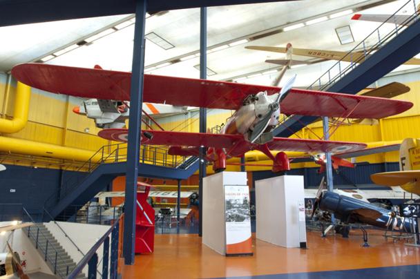 D. Costes et M. Bellonte traversent l'Atlantique à bord du Breguet 19 Super Bidon Point d'interrogation. L'appareil est exposé au Musée de l'Air et de l'Espace du Bourget © Musée de l'Air et de l'Espace – Alexandre Fernandes