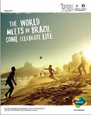 La campagne met en avant les évènements sportifs qu'accueillera le Brésil d'ici 2016 - DR
