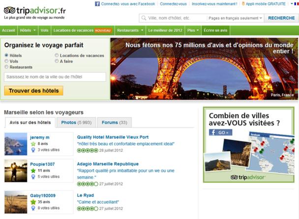 50 nouveaux avis de voyageurs sont postés chaque minute sur TripAdvisor - Photo DR