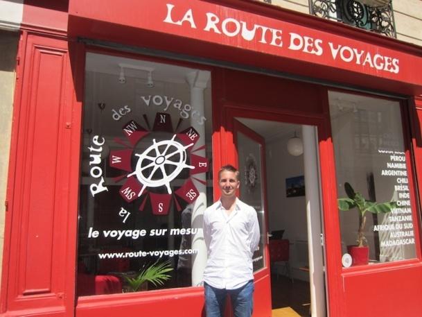 Fabien Hée, jeune vendeur de la Route de Voyages. - DR : L-A.C