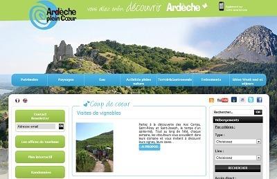 Ardèche Plein Coeur développe sa présence sur les réseaux sociaux et sur les plateformes participatives du Web pour promouvoir la destination autrement - Capture d'écran