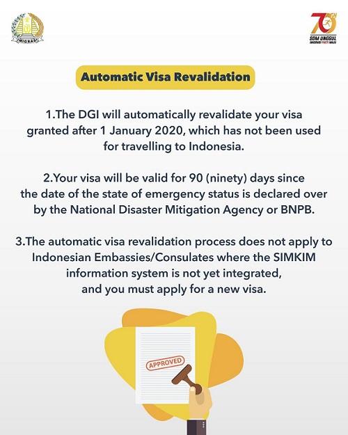 Communiqué de la Direction Générale indonésienne de l'Immigration