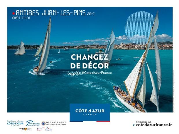 Un des visuels de la campagne de communication lancée par le CRT Côte d'Azur - DR
