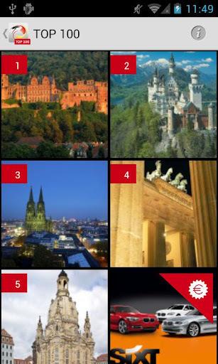 L'application TOP 100 offre un classement des sites touristiques allemands préférés des visiteurs - DR