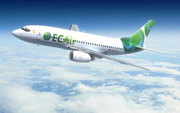 En septembre 2011, une première ligne a été lancée entre Brazzaville et Pointe Noire avec un B-737 de Privatair - DR : Privatair.com
