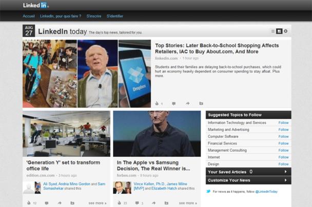 Linkedin Today et Viadeo Inside, les deux poids lourds du secteur, incitent les utilisateurs à se rendre régulièrement sur leur profil pour le mettre à jour et suivre l'activité de leurs contacts. - DR