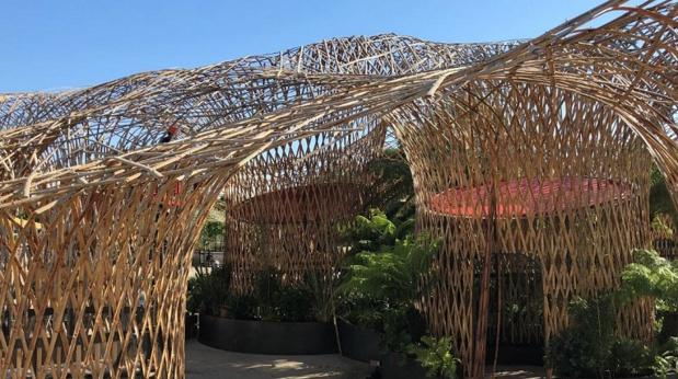 L'Oasis, la plus grande structure en bambous d'Europe - DR