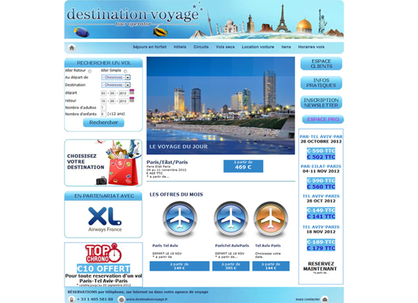 Destination Voyage est un TO exclusivement en ligne et à destination des agents de voyages - DR