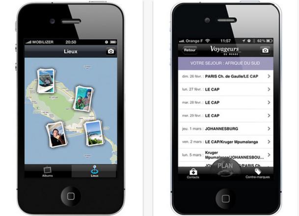 Voyageurs du Monde a lancé en avril dernier une application Iphone de son carnet de voyage - DR