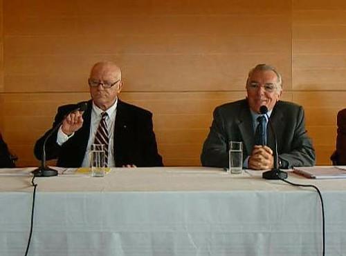 André Daguin, le rapporteur et Bernard Quintrau président de la section du