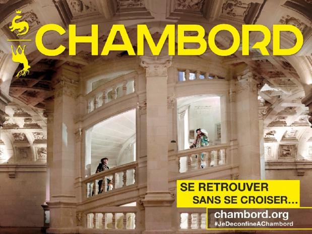 Dans l'escalier à double-révolution, imaginé il y a 500 ans, une volée de marches est réservée à la montée, tandis que la seconde volée est prévue pour la descente des visiteurs - DR : Château de Chambord