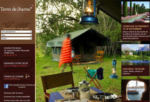 Travel & Co a acquis Terres de Charme en 2007. Cette marque est revendue en direct et propose des voyages exclusifs et privés