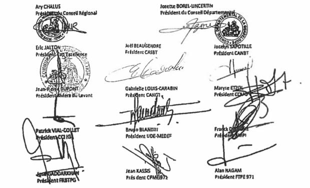 Une partie des signataires de la pétition