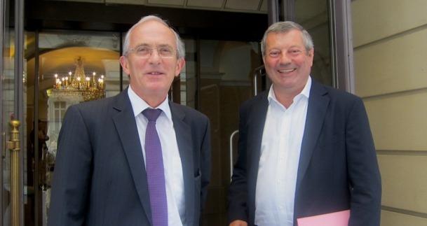 Hervé Bécam le vice-président et Roland Héguy, le président de l'UMIH - DR