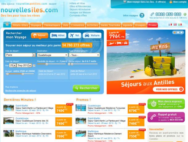 François BENARD, 49 ans, fondateur de Nouvelles Antilles.com / Nouvelles Iles.com en 2000 et de VoyageMania en 2012. - Capture d'écran