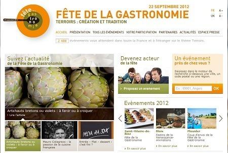 L'Umih incite ses adhérents à faire découvrir l'envers du décor au grand public pendant la fête de la gastronomie 2012 - Capture d'écran fete-gastronomie.fr