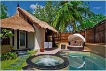 Chaque villa du banyan Tree Vabbinfaru dispose désormais d'un piscine privé, d'un jacuzzi et d'un lit extérieur - Photo DR