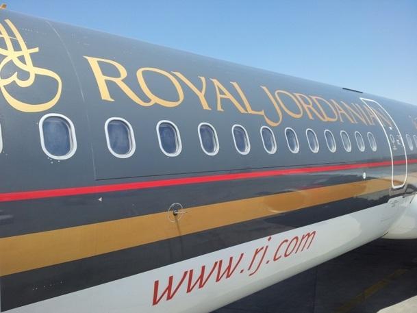 A bord, le personnel naviguant de Royal Jordanian ne parle en effet pas  français mais