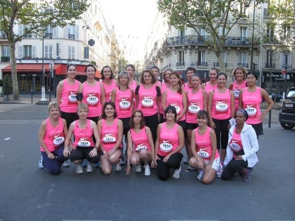La Parisienne : ambiance chaleureuse pour les 31 coureuses d'AS Voyages