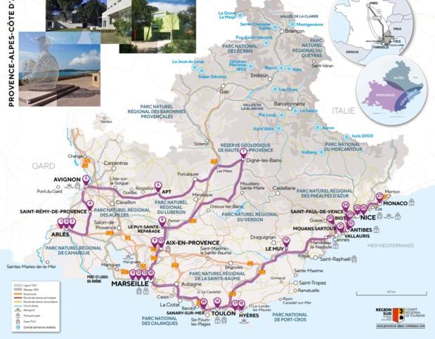 Une carte qui présente 27 collections incontournables de la région - DR