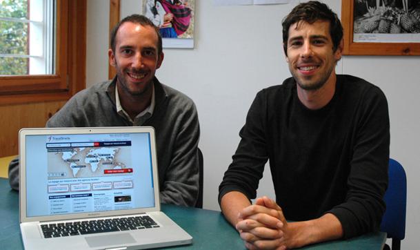 Olivier Catrou, fondateur et DG et Romain Chauny, responsable Web et Marketing forment l'équipe de TraceDirecte.com - DR