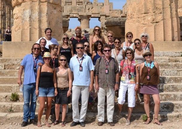 18 collaborateurs d'Héliades ont accompagné Jean Brajon à la découverte de la Sicile, nouveauté 2013 du tour opérateur - Photo DR