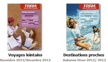 Les 2 brochures Hiver 2012-2013 de Fram ne comportent pas beaucoup de nouveautés - Crédit : Brochuresenligne.com