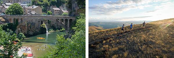 Baignade et canoë à St-Chély-du-Tarn  @Erick Henry / Trail sur les Causses lozériens @ Régis Domergue