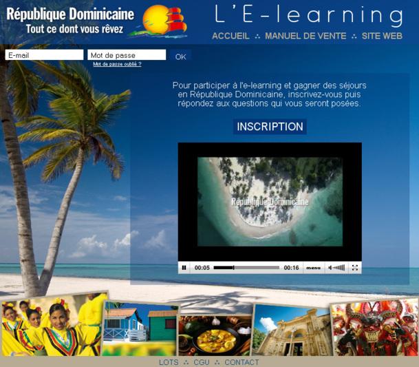 L'e-learning de la République Dominicaine est en ligne jusqu'au 14 mars 2013 - Capture d'écran