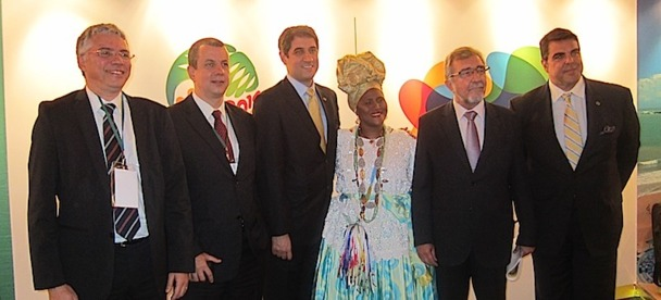 L'équipe d'Embratur est venue en France présenter ses actions pour promouvoir la destination à l'occasion de la coupe du monde en 2014. DR