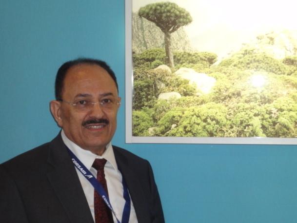 Dr Kassim Sallam Said, ministre du Tourisme du Yemen en visite à Top Résa - Photo A.P